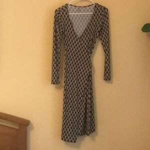 Medium length wrap dress